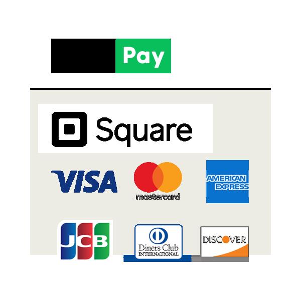 クレジットカード払い対応ブランド:VISA/Master Card/AMERICAN EXPRESS/DISCOVER/Diners Club/JCB